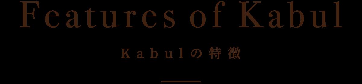 Kabulの特徴